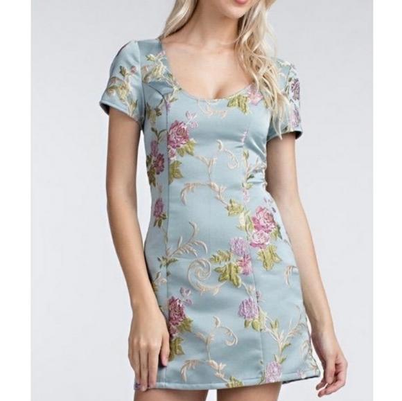 UO Floral Jaquard Dress